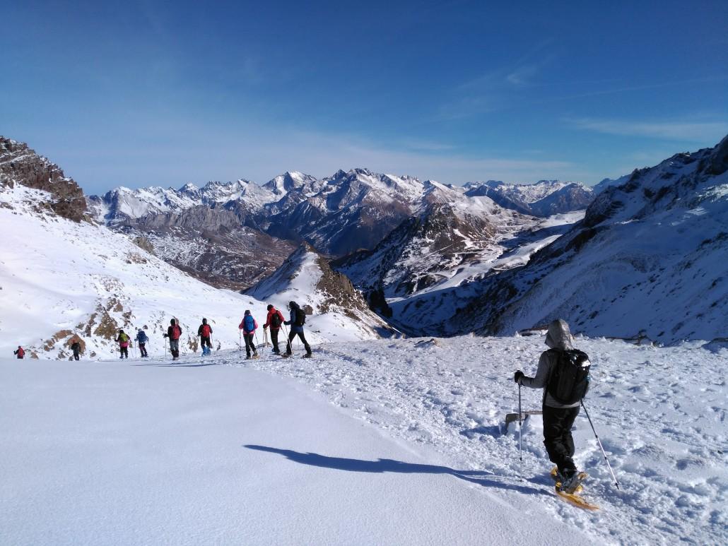 Raquetas de nieve ibones de Anayet
