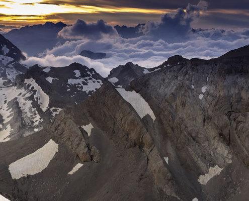 Últimas luces en Monte Perdido