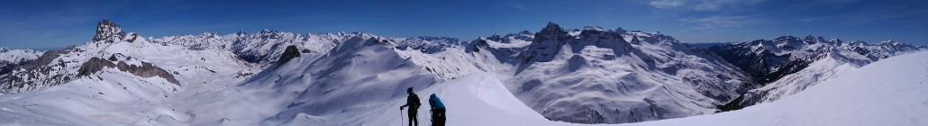 Raquetas de nieve pico Canal Roya